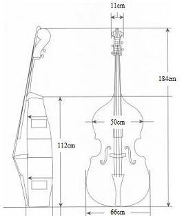 ゴーン,楽器箱,コントラバス