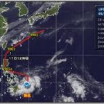 台風1号,2020,進路予想